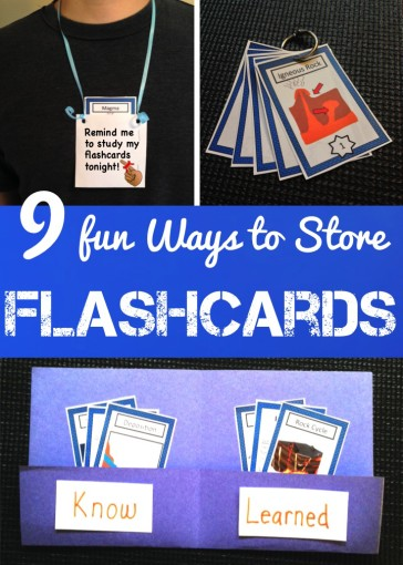 9 Fun Ways to Store Flashcards