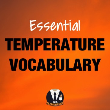 Temperature Vocabulary