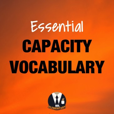 Capacity Vocabulary