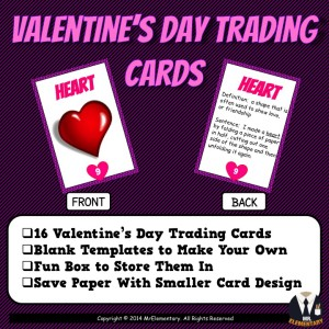 Valentine's Day Vocabulary Cards and Word Wall