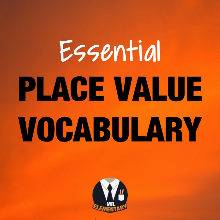 Place Value Vocabulary Mr Elementary